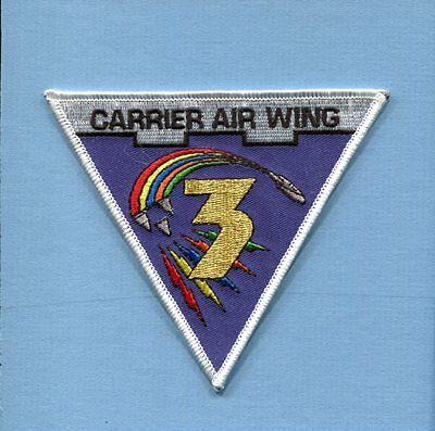 CAG CVW-3 CARRIER AIR WING THREE US NAVY Aircraft Carrier Squadron Jacket Patch