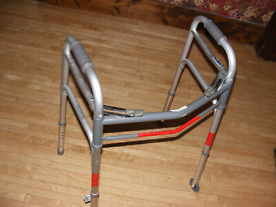 Guardian Easy Care Adult Folding Walker with Wheels