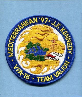 VFA-15 VALIONS CV-67 USS JOHN KENNEDY US NAVY 97 MED CRUISE F-18 Squadron Patch