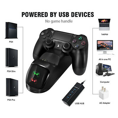 PS4 Dual Charging Charger Dock Station Stand for Playstation Controller Pad