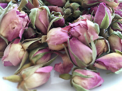 Dried Edible Small Rosebuds PINK for cake decoration 100g (BudSmallPink)