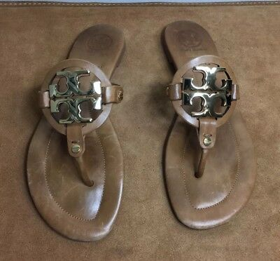 Tory Burch Leather Brown Thong Sandles Women's Size 9 M