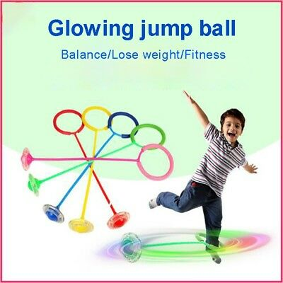 LED Flash Jumping Ring Educational Skip Ball Ankle Sports Funny Game For Kids