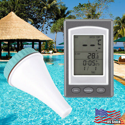 Floating Swimming Pool Spa Tub LCD Digital Thermometer Temperature Water Float