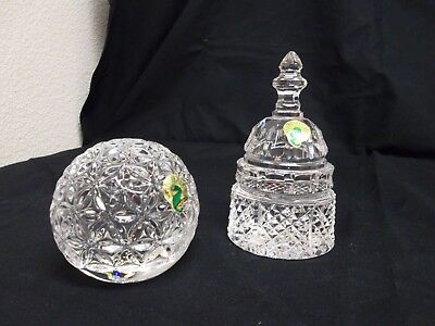 2 Waterford Crystal Paperweights: US Capitol Dome and Times Square