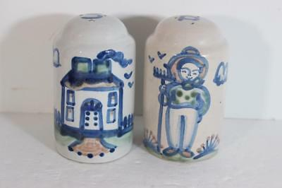 Vintage Hadley Primitives Farmer/House Salt & Pepper Shakers- GREAT CHARACTER!
