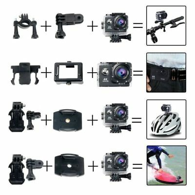 YaeCCC 4K WiFi Waterproof Sports Action Camera HD 12MP with 2'' LCD Screen