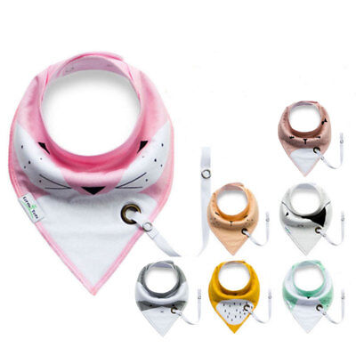 Baby Bib Slobber Double Multi-Function Cotton Bibs With Pacifier Triangle Towel