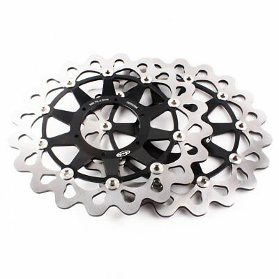 Front Brake Disc Rotors Fit Honda CBR1000RR 2006-07 VTR1000 SP1 RC51 00-04 Black