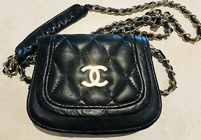 Vintage Designer Chanel Logo Cross Shoulder Bag Prior 1980's ( 1960's-1970's )
