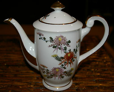 Stunning Hand Painted Japanese Kutani Tea Pot With Lid Major Gold Trim No Wear