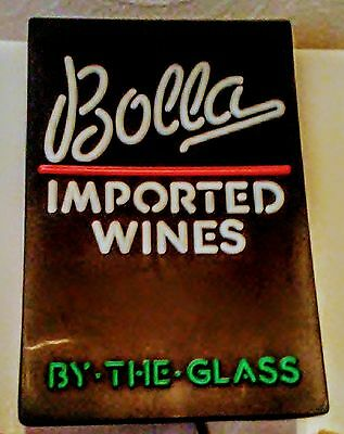 Large Bolla Wine Sign!easy On/off( Clicker On Cord!)-Hangs On Wall! Collectible!