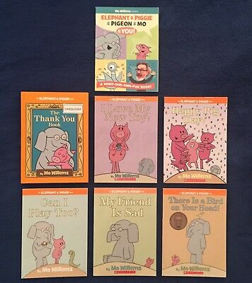 Lot of 7 Children's Picture Books by Mo Willems: Elephant & Piggie Series