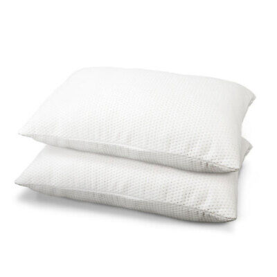 Set of 2 Large Bedding Visco 45kg/m3 Memory Foam Pillows, 16to19cm Thick
