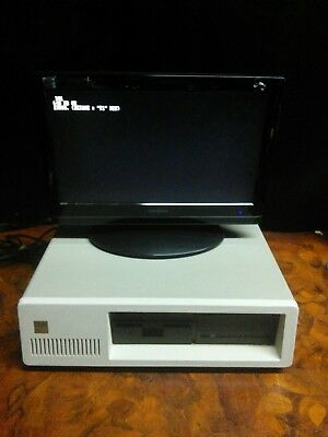 Vintage IBM 5150 Personal Computer XT PC  Connects with Monitor. Floppy Disk