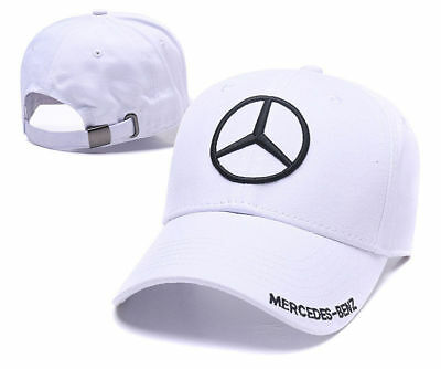 New MERCEDES BENZ² Logo AMG Cap Sport Baseball Hat outdoor Adjustable White 4e849fabc098