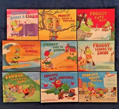 Lot of 4 Children's Picture Books by Jonathan London: Froggy Series PBs NEW GIFT