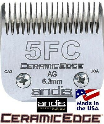"Dog Grooming ANDIS CERAMICEDGE 1/4"" Blade 5FC 5F Fits Most Oster,Wahl Clippers"