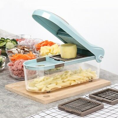 New Multifunctional Onion Vegetable Chopper Slicer Dicer Cutter with 3 Blades