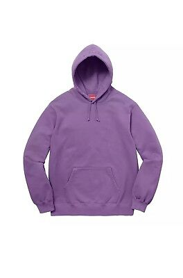 a6845f473b6c Supreme Overdyed Hooded Sweatshirt SS18 Size Large Purple Brand New With  Tags