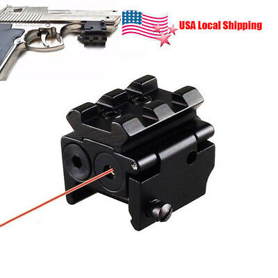 Compact Tactical Pistol RED Dot Laser Adjustable MIni Sight Fit for Rail 20mm