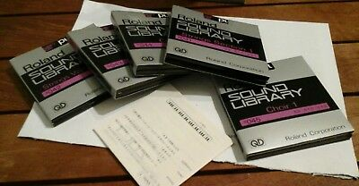 Roland S10 S220 Quick Disk blanks/sample sets. 4 x boxes of 10 NEW, see below