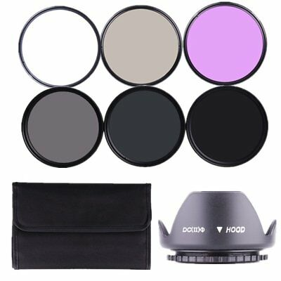 RISE(UK) 72mm Lens Filter Kit ND2 ND4 ND8 UV CPL FLD Accessory Kit for Canon
