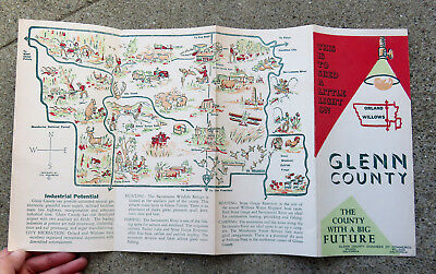 Original 1950s Glenn County Willows Orland Ca Brochuremap  Map by Vic Kronberg