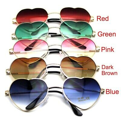 Stylish Sunglasses Women Heart Shape Lens Mirrored Eyewear Eyeglasses Goggles
