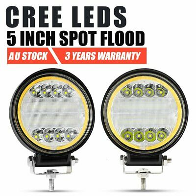 2x 4inch CREE Round LED Work Light Driving Lamp Offroad 4WD Truck SUV ATV UTE