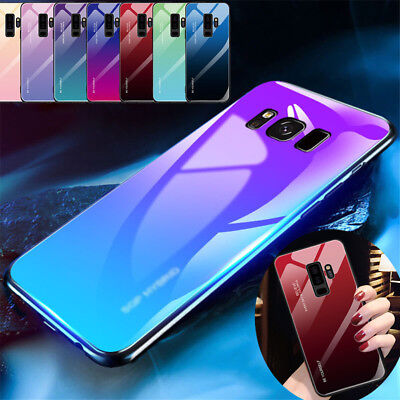 Gradient Tempered Glass Armor Case Cover For Samsung Galaxy Note 9 8 S8 S9 Plus