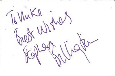 Stephen Billington actor signed white card dedicated in person autograph Z3629