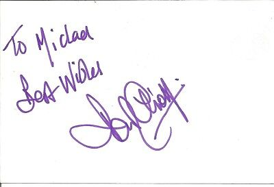Paul Elliott actor signed white card dedicated in person autograph Z3627