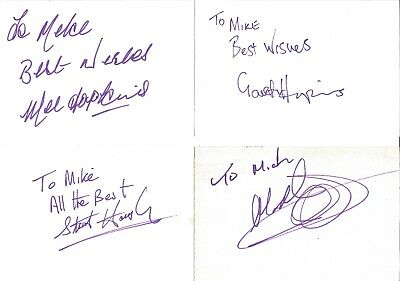 Autographs Melvyn Hopkins Gareth Hopkins Stuart Housley Mark Hotte Z3503