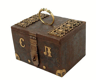 Antike Kasse Truhe Tresor Safe Geldschrank Russland antique strongbox cashbox -A