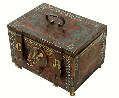 Antike Kasse Truhe Tresor Safe Geldschrank Russland antique strongbox cashbox -B