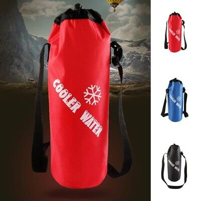 Carrier Shoulder Strap Outdoor Water Bottle Insulated Cooler Bag Cover Holder LV