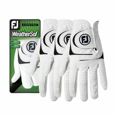 Footjoy WeatherSof Golf Gloves - 3-Pack with Size Options