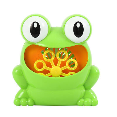 New Frog Automatic Colorful Bubble Machine Maker Blower Music Bath Toy For Baby