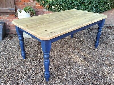 """Solid Pine Farmhouse Kitchen Table 3ft x 5ft 5"""""""