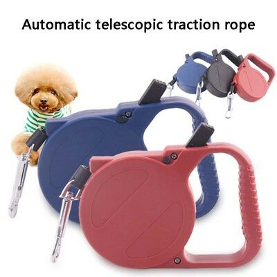Pet Dog Puppy Collar Lead Leash Traction Rope 3m Automatic Retractable Outdoor