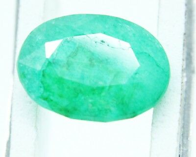 5.00Ct Natural Green Emerald Oval Cut Vivid  Panna Ring Size Gems Ggl Certified