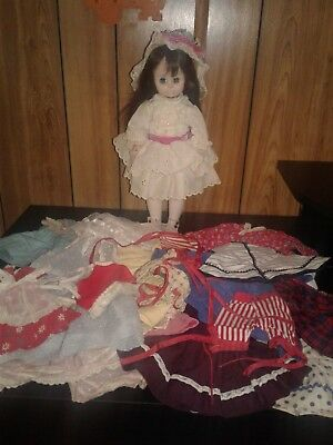 Madame Alexander Doll and Clothes Lot. Vintage Doll Clothes 1950s