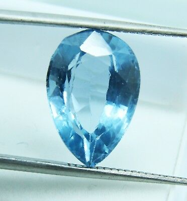 7.15 Ct Natural Pear Cut Transparent Ocean Blue Aquamarine Gem GGL certified