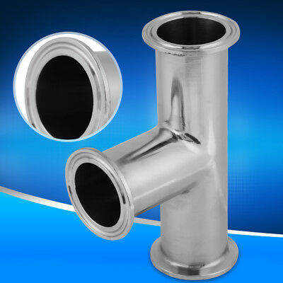 "Standard Sanitary Stainless Steel tc TEE,Tri-Clamp Tee,Size:1.5""/38mm SUS304 UK"