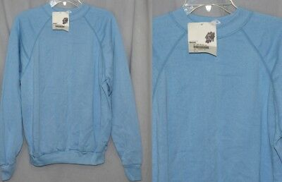 Vintage 80s Light Blue RAGLAN Sleeve Tultex Sweatshirt Retro Soft Top NOS M L