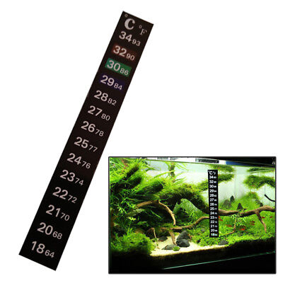 1 pc LCD Stick On Adhesive Strip Flat Thermometer For Fish Tank Aquarium