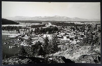 Vtg Rppc View Of Coeur D'alene Idaho From Tubbs Hill Real Photo Postcard