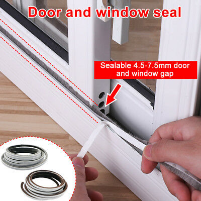 1 Pcs Self Adhesive Seal Strip 5M Door Draught Excluder Brush Windproof Window P