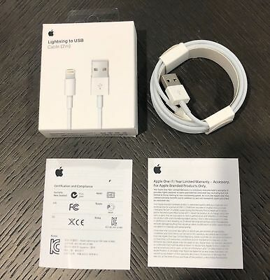 New OEM Original Apple iPhone 7 6S Plus 5 SE Lightning USB Cable Charger 2M/6FT